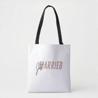 """Minimal, beschriftete Hand """"gerade verheiratete"""" Tasche"""