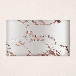 Minimale abstrakte Rosen-Goldmarmor-Verabredung Visitenkarten