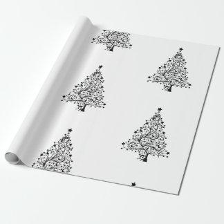 Minimale Art-weißes Packpapier für Weihnachten