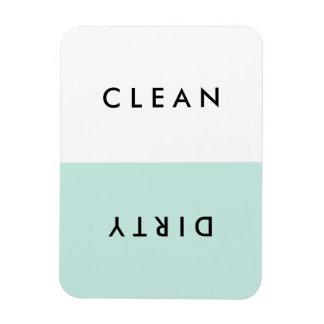 Minimale blaue Spülmaschinen-sauberer oder Flexibler Magnet