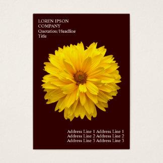 Minimale Blumen - Chrysantheme - dunkelbraun Visitenkarte