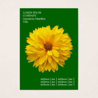 Minimale Blumen - Chrysantheme - tiefes Gras-Grün Visitenkarte