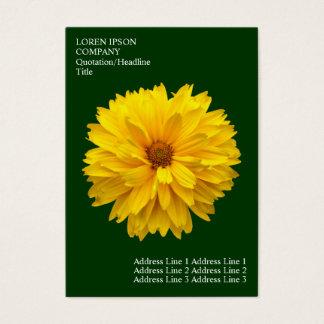 Minimale Blumen - Chrysantheme - tiefgrün Visitenkarte