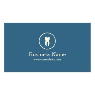 Minimale einfache blaue zahnmedizinische visitenkarten