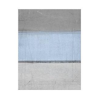 """""""Minimale"""" graue und blaue abstrakte Kunst Leinwanddruck"""