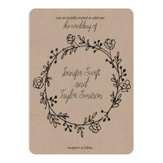 minimale Hochzeitseinladung Karte