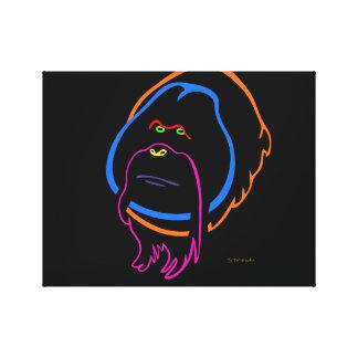 Minimale Kunst für Sumatran Orang-Utan Leinwanddruck