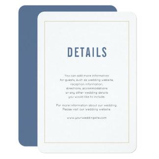 Minimale Marine-Hochzeits-Einzelkarte Karte