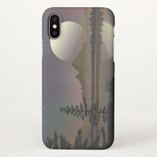 Minimale Mond-u. der See-Landschaft  Digital iPhone X Hülle