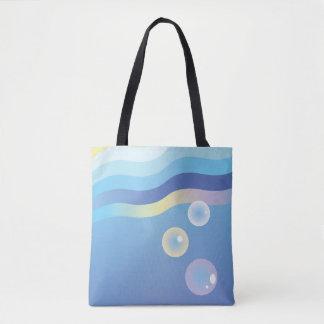 Minimale Ozean-Sonnenaufgang-und Tasche