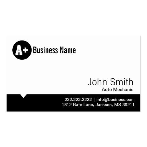 Minimale Punkt-Auto-Mechaniker-Geschäfts-Karte Visitenkarten