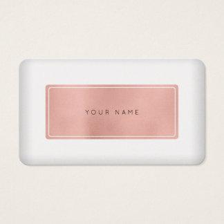 Minimale rosa Rosen-Goldperle weißer Vip Visitenkarte