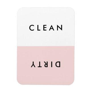 Minimale rosa Spülmaschinen-sauberer oder Rechteckige Magnete