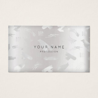 Minimale silbernes Grau Erröten-Anschläge Visitenkarten