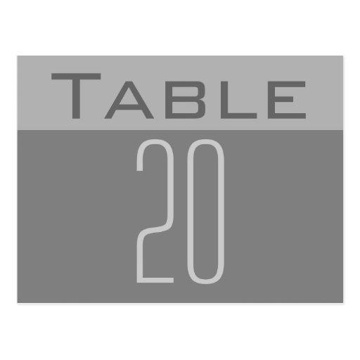 Minimale Tischnummer-Postkarte