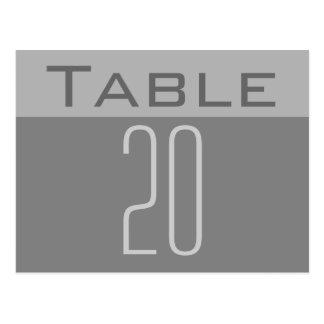 Minimale Tischnummer-Postkarte Postkarten