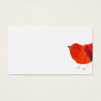 Minimale u. künstlerische tierische reizende rote visitenkarte