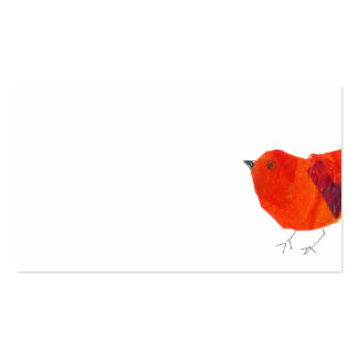 Minimale u. künstlerische tierische reizende rote visitenkarten