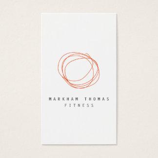 Minimale und moderne Designer-Gekritzel-Orange Visitenkarte