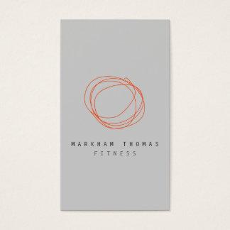 Minimale und moderne visitenkarte