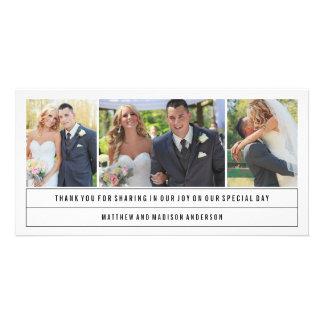 Minimale Wedding   danken Ihnen Foto-Karte Fotokartenvorlagen