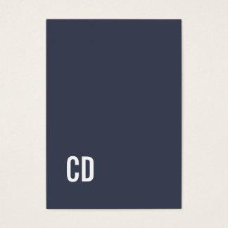 Minimaler eleganter blauer weißer Jumbo-Visitenkarten