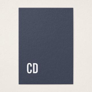 Minimaler eleganter blauer weißer visitenkarte