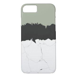 Minimaler Marmor-u. schwarzer iPhone 8/7 Hülle