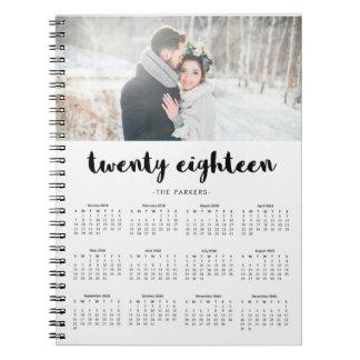 Minimaler moderner Typografie-Foto-Kalender 2018 Notizblock
