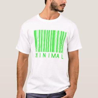 minimaler Musikbarcodeentwurf T-Shirt