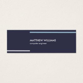 Minimaler Navy blue stripes masculine elegant card Mini Visitenkarte