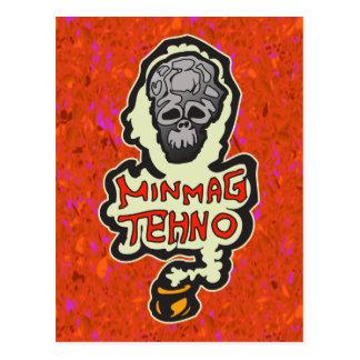 Minimaler Techno Musik-Tanz Postkarte