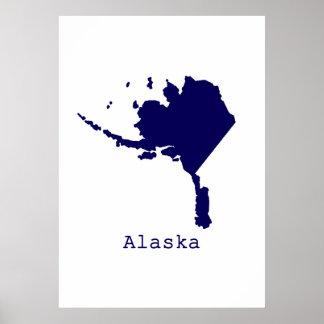 Minimales Alaska Vereinigte Staaten Poster