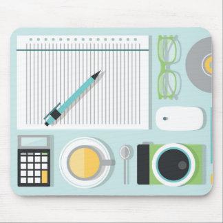 Minimales Bürobriefpapier mousepad