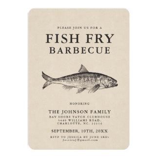 Minimales Fisch-Fischrogen-Party kundengebundene Karte