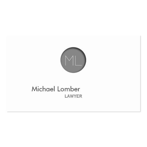 Minimales Grau prägeartige Visitenkartenvorlage