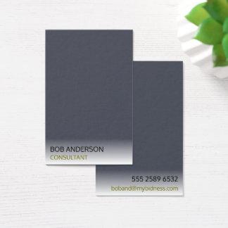 Minimales Indigo-Elfenbein-rauchiger Nebel-Berater Visitenkarte