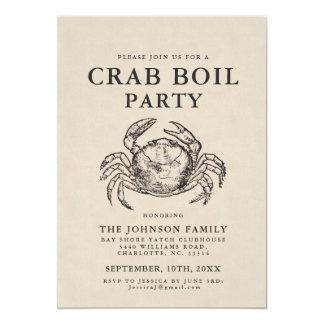 Minimales Krabben-Blutgeschwür-laden Vintage Karte