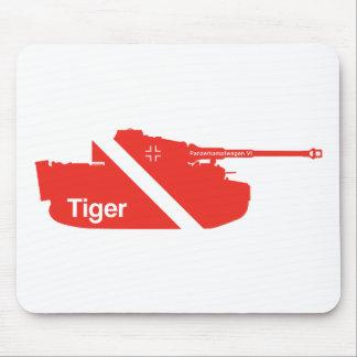 Minimales Panzerkampfwagen VI, rot Mauspad