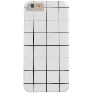 Minimales Schwarzweiss-Checkbox-Muster Barely There iPhone 6 Plus Hülle