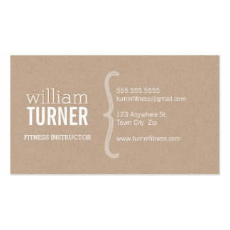 Visitenkarten aus Kraftpapier