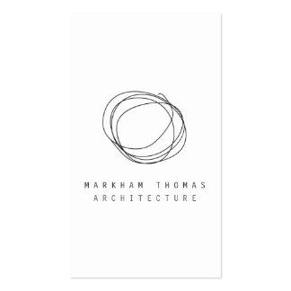 Minimales und modernes Designer-Gekritzel-Logo Visitenkarten