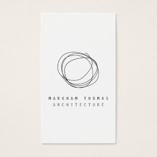Minimales und modernes Designer-Gekritzel-Logo Visitenkarte