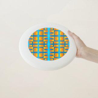 Minimalismus-abstraktes Aqua und helle Orange Wham-O Frisbee