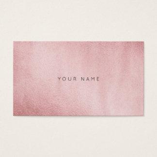 Minimalismus-einfarbiges Pulver-Rosa-Gold Vip Visitenkarte