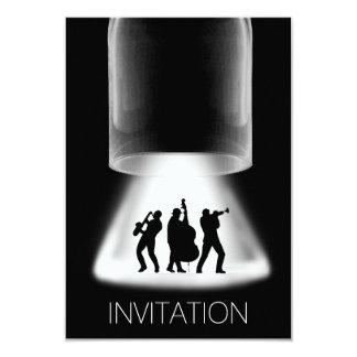 Minimalismus-Festival-Jazz-Konzert-Einladung 8,9 X 12,7 Cm Einladungskarte