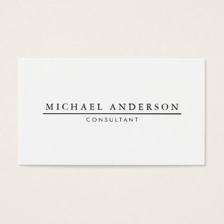 Minimalist elegant visitenkarte