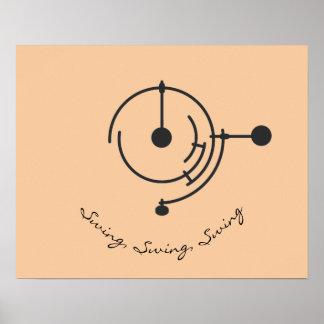 Minimalistic dreifaches Pendel-Plakat Poster