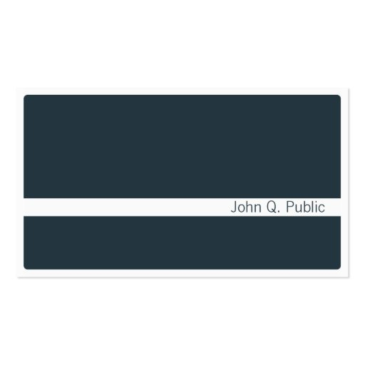 Minimalistic dunkelgraue blaue Visitenkarte