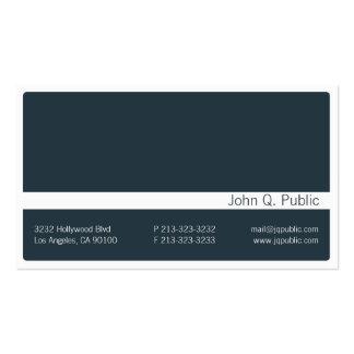 Minimalistic dunkelgraue blaue Visitenkarte 2